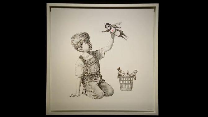 Preu rècord per una obra benèfica de Banksy dedicada als sanitaris