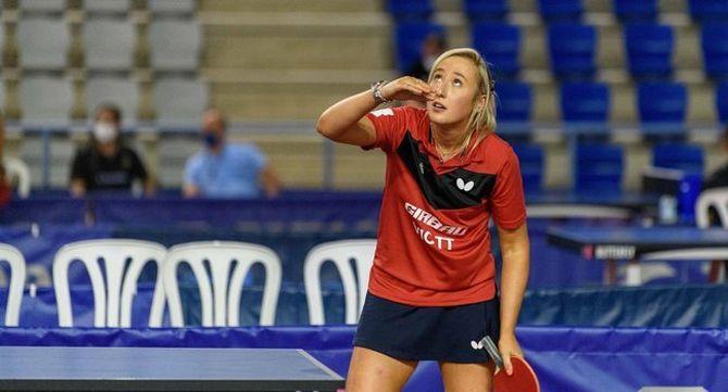 Charlotte Carey, jugadora del Vic Tennis Taula