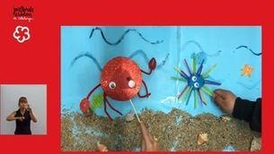 """Una imatge del conte """"Una closca especial"""", d'alumnes de l'Escola Llevantí de Mar de Sant Antoni de Calonge."""