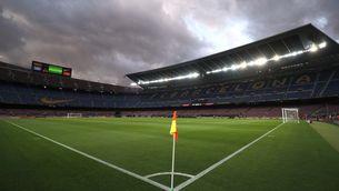 pla general del Camp Nou des de dins