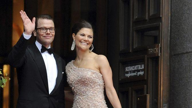 La princesa Victòria de Suècia amb el seu promès, Daniel Westling