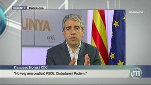 """Homs: """"L'única opció de canvi és un govern encapçalat pel PSOE i requereix els nostres vots sí o sí"""""""