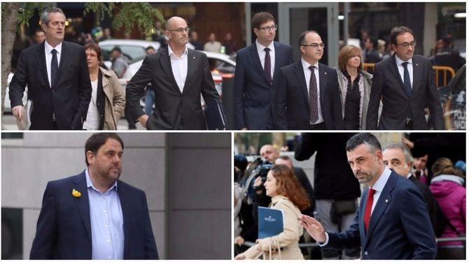 El fiscal demana presó incondicional per als 8 consellers cessats que han declarat, però no per a Santi Vila