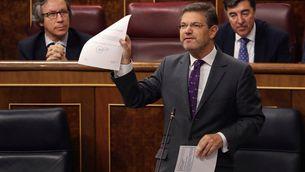 El ministre Catalá, aquest matí, al Congrés dels Diputats (EFE)
