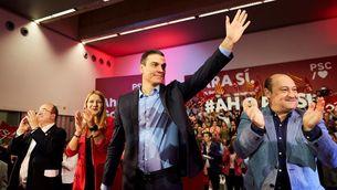 Pedro Sánchez a l'acte preelectoral a Viladecans (EFE)