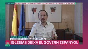 """Planta baixa"" - Iglesias deixa la vicepresidència per presentar-se a Madrid"