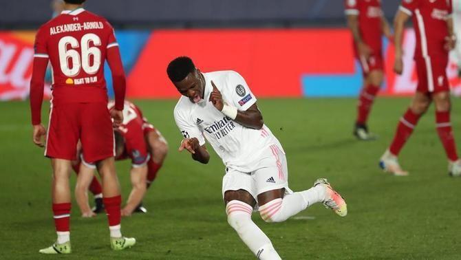 El Madrid s'imposa al Liverpool en la nit de Vinicius (3-1)