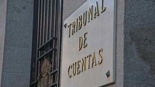 Detall de la façana de la seu del Tribunal de Comptes a Madrid