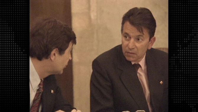 Albert Vilalta, en una reunió del consell executiu de la Generalitat.