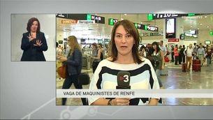 Seguiment de la jornada de vaga dels maquinistes de Renfe