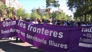 Manifestació a favor dels refugiats