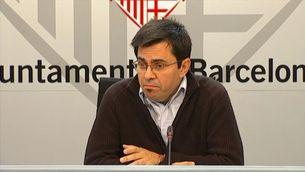 Gerardo Pisarello, durant la roda de premsa