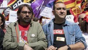 Camil Ros (UGT) i Javier Pacheco (CCOO)