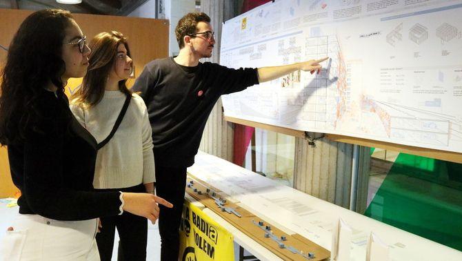 Alumnes de l'Escola Tècnica d'Arquitectura del Vallès dissenyen una vintena de projectes per transformar Badia