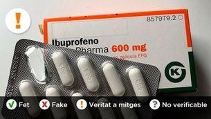 No hi ha proves científiques que l'ibuprofèn agreugi la infecció per coronavirus