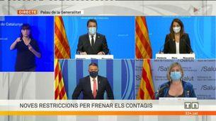Roda de premsa en què el govern anuncia noves restriccions anti-Covid