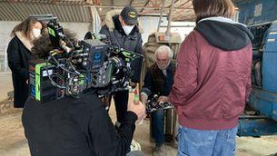 """Un moment del rodatge de """"Moebius"""" a Caldes de Montbui"""