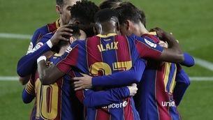 Messi i Trincao donen la victòria al Barça (5-1)