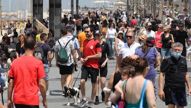 Portar la mascareta al carrer ja no és obligatori a Israel