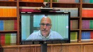 Raül Romeva entrevistat per videoconferència amb la presó de Lledoners
