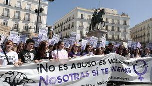 Imatge d'arxiu d'una de les manifestacions contra la sentència de La Manada
