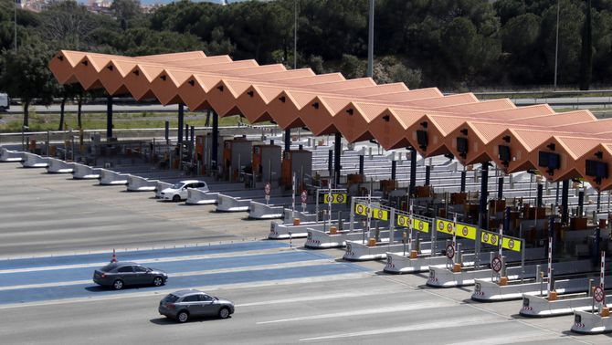 El peatge d'Arenys de Mar, a l'autopista C-32