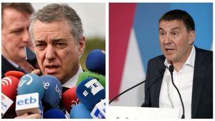 """Urkullu demana a ETA no fer diferències entre víctimes i Otegi parla de """"fet històric"""""""