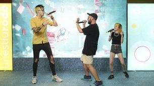 El raper Lildami i els seus sequaços Sr. Chen i Emotional G