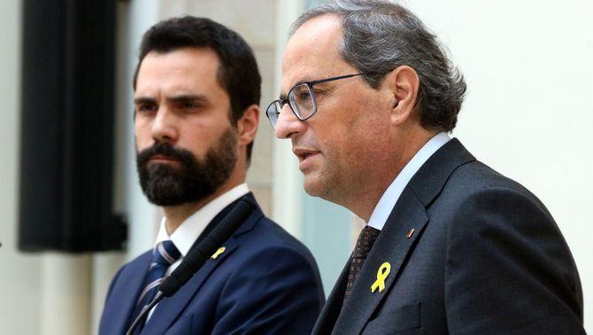 """Torra denuncia """"pressions insostenibles"""" a Torrent perquè li retiri l'acta de diputat"""