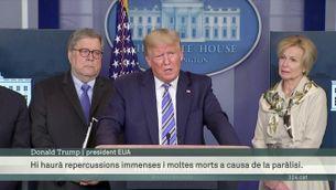 """""""Serà pitjor el remei que el virus"""". Trump fa un gir en les restriccions i vol reobrir l'economia a l'abril encara que el virus estigui descontrolat"""