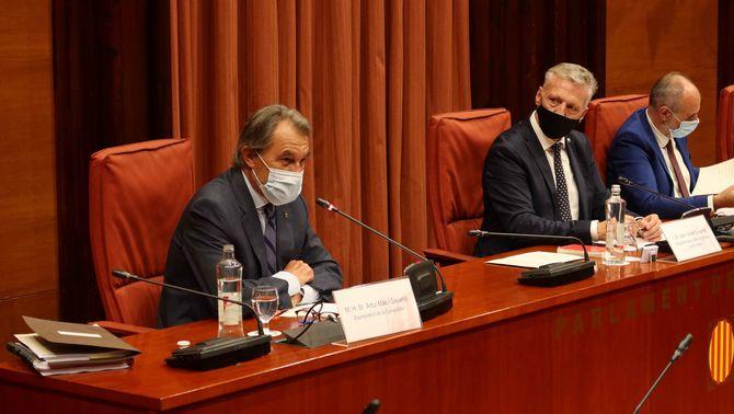 Artur Mas, durant la seva compareixença al Parlament (ACN)