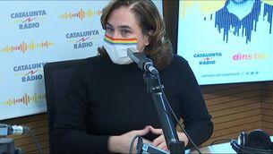 Ada Colau a l'estudi de Catalunya Ràdio