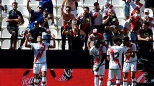 Falcao, en el seu debut amb el Rayo