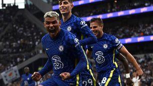 Thiago Silva, celebrant un dels gols contra el Tottenham