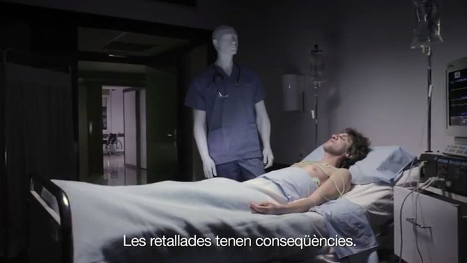 La campanya s'escalfa amb un vídeo del PSC sobre les retallades en sanitat