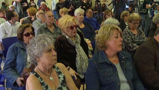 Entre els assistents a la reunió a les Cotxeres hi havia Núria Feliu.