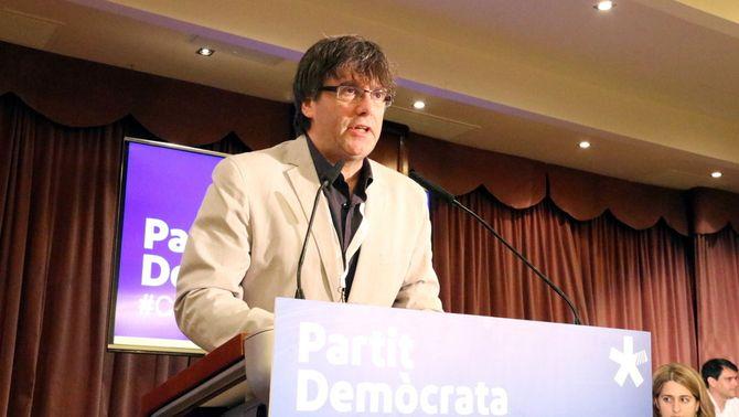 """Puigdemont: """"A tot un poble mobilitzat no li podran fer ni pessigolles"""""""