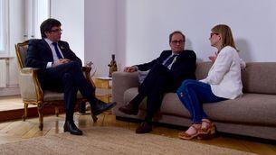 Puigdemont i Torra, reunits amb Elsa Artadi a Berlín el 10 de maig (ACN)