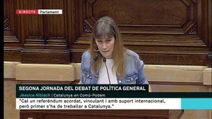 Jéssica Albiach demana al govern que plantegi objectius realistes