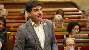 El president del grup republicà, Sergi Sabrià, durant el ple del Parlament. Imatge de l'11 de desembre de 2019. (Horitzontal)
