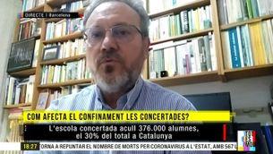 """Miquel Mateo: """"El servei de la concertada es manté, però les quotes es readapten"""""""