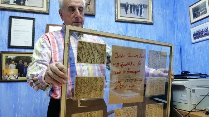 La carta d'un jove afusellat arriba a la seva família 80 anys després