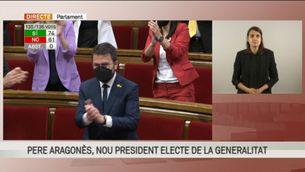 Votació de Pere Aragonès com a 132è president de la Generalitat