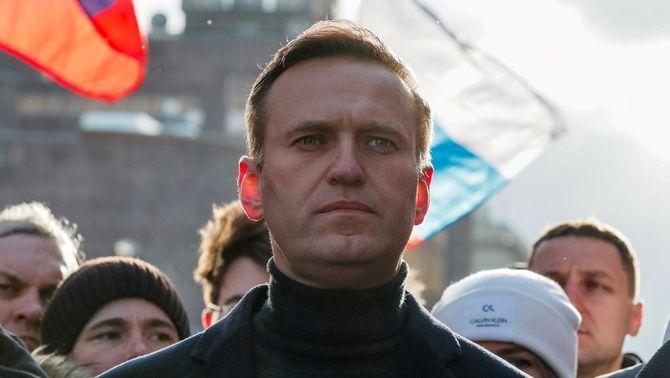 Aleksei Navalni, en una manifestació el febrer de l'any passat a Moscou