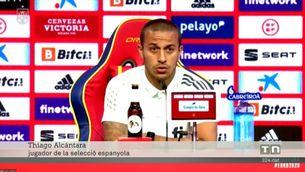 """Thiago Alcántara: """"Esperem que la vacuna no ens provoqui efectes secundaris en l'Eurocopa"""""""