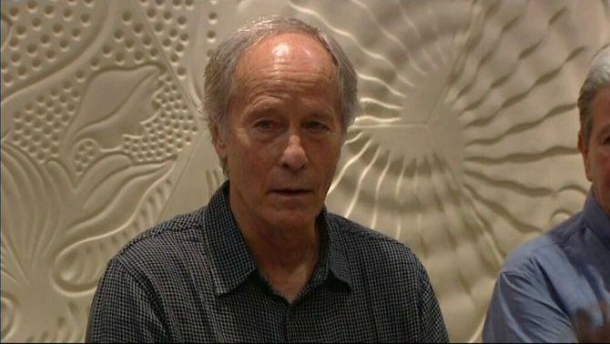 L'escriptor Richard Ford durant la presentació de 'Canadà', la seva setena novel·la.