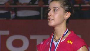 Equivocació amb l'himne espanyol en el campionat del món de bàdminton