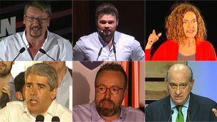 Els candidats catalans en les eleccions generals