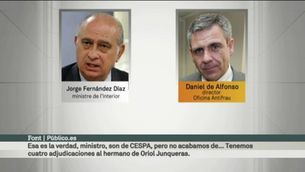 Converses filtrades entre Fernández Díaz i De Alfonso per buscar escàndols de corrupció