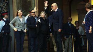 Forcadell ha acompanyat Corominas i Barrufet fins a la porta del Palau de Justícia (ACN)